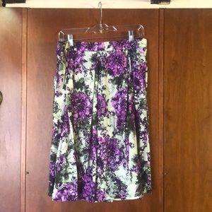 LuLaRoe Madison floral skirt